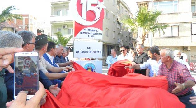 15 Temmuz Demokrasi Şehitleri tabelası dikildi