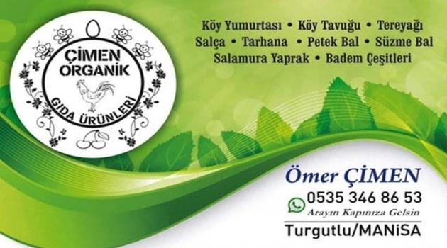 Çimen Organik Gıda Ürünleri Turgutlu'da Hizmetinizde