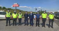 Kaymakam YILMAZ Polis Kontrol Noktasını Ziyaret Etti