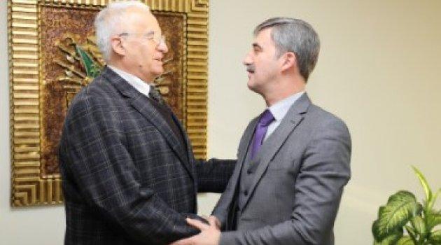 Tahsin Hoca'dan Başkan Şirin'e Veda Ziyareti